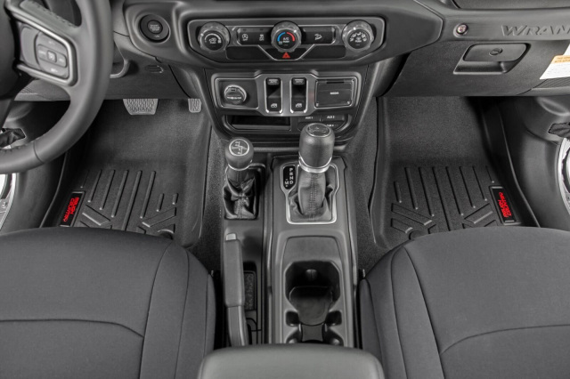 Rough Country 2020 JT Gladiator Floor Mats Front & Rear W ...